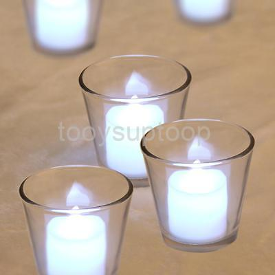 Clear Glass Cup Votive Candle Holder Tea Light Holder Wedding Party Decor