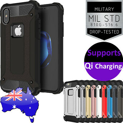 Apple iPhone X✔8✔8+✔7✔7+✔6s✔ TOUGH Armor Rugged Case Heavy Duty SHOCKPROOF Cover