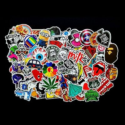100PCS Car Sticker Bomb Decal Vinyl Roll Skateboard Laptop Luggage suitcase au