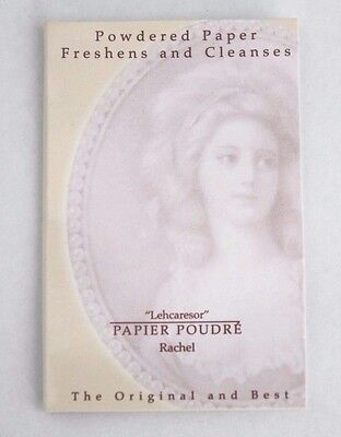 "Papier Poudre ""Rachel"" Powdered Absorbent Blotting Face Paper Oil Removal 20pg"