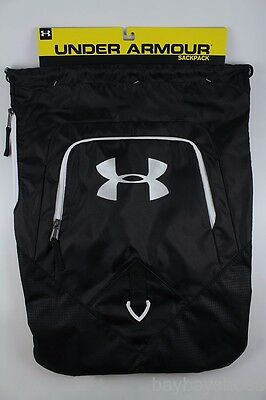 Ua Under Armour Undeniable Sackpack Black/white Drawstring Gym Bag Backpack New