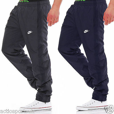 New Nike Mens Woven Tracksuit Jogging Bottoms Track Pants Joggers - Navy & Grey