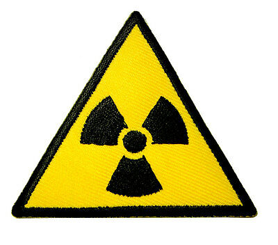 Nuclear Power Triangle Sign Symbol Logo Embroidered Iron on Patch Free Shipping