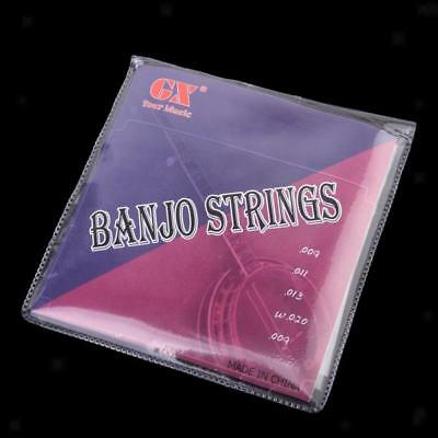 Quality Set 5 Strings for 5-String Banjo Loop End Strings Nickel Alloy Wound