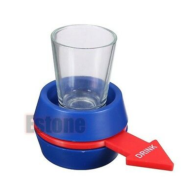 Spinner Spin The Shot Roulette Glass Alcohol Drinking Fun Game Party Gift
