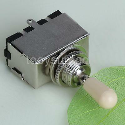 Box Style 3 Way Toggle Switch Ivory Knob for LES PAUL Electric Guitar