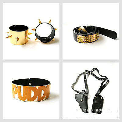 Cosplay Comic Suicide Squad Harley Quinn Punk Accessories Costume Belt Collar