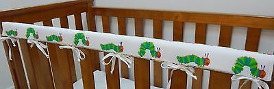 Baby Cot Crib Rail Cover Teething Pad Very Hungry Caterpillar March 100% Cotton