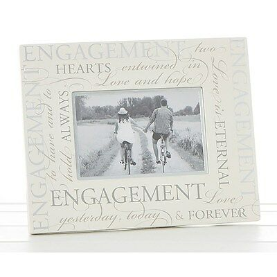""" Engagement "" - Script Photo Frame 6"" x 4"" - ( 83579 )"