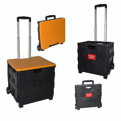 CARRO PLEGABLE COMPRA Pack and ROLL CAJA PLEGABLE CARRETILLA MALETIN MULTIUSOS