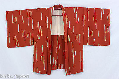 羽織 Haori japonais - Veste soie - Marron et bambous - Import direct 1374