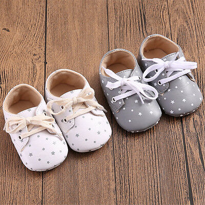 New Fashion Baby's Cute Soft Sole Prewalker Crib Shoes For Boys Girls Toddler