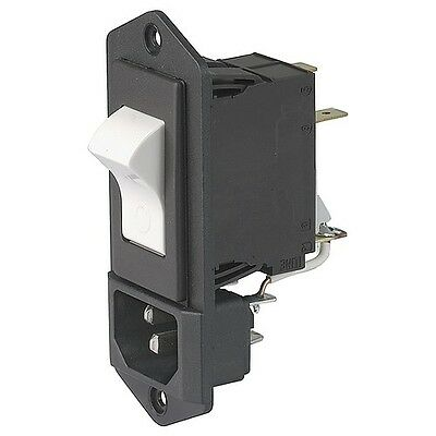 CON-ES-12A 110VAC Power inlet with 12A breaker and connector