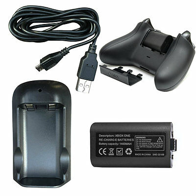 VGamer Rechargeable Battery and Charging Dock Power Pack for XBOX ONE Controller