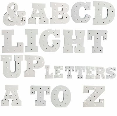 LED Letters 15cm Light Up Wooden Letters Illuminated Wedding Circus Vintage Xmas