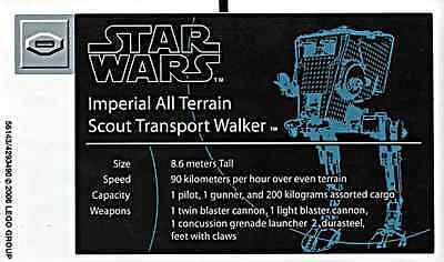 Replacement Sticker / Label Sheet Lego Star Wars 10174 Ucs Imperial At-St