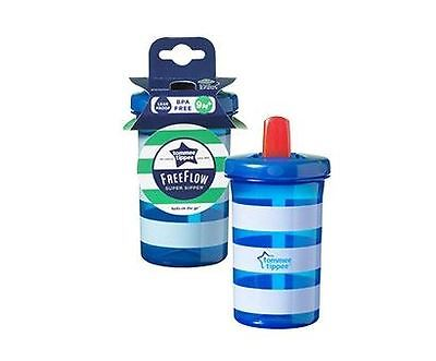 Tommee Tippee Free Flow Supper Sipper 9m+ 300ml Blue/White Lines