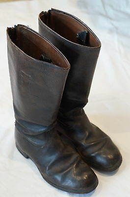 WW2 German Leather Hobnailed Jackboots Marching Boots Modified Pair