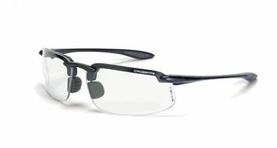 CROSSFIRE ES4 Reader Diopter 2.0 Bifocal Gray Clear Lens Safety Glasses 216420