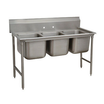 "Advance Tabco T9-3-54 16"" Regaline 3-Compartment Sink"