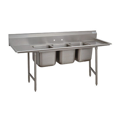 "Advance Tabco T9-3-54-18R 16"" Regaline 3-Compartment Sink"