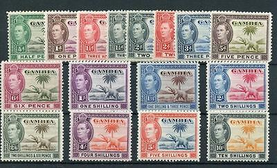 Gambia 1938-46 set SG150/61 MM - see desc