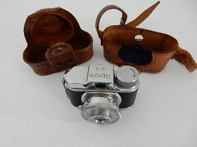 Vintage Mycro 20mm Camera, Leather Case