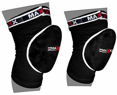 Maxx Elasticated Knee Cap Gel Padded Pads Brace Protector Guard Support Wear MMA