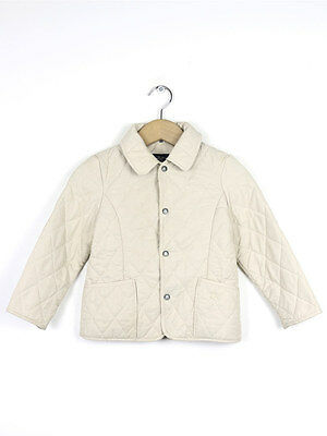 Burberry Girls Stone Quilted Coat Size 4 Years
