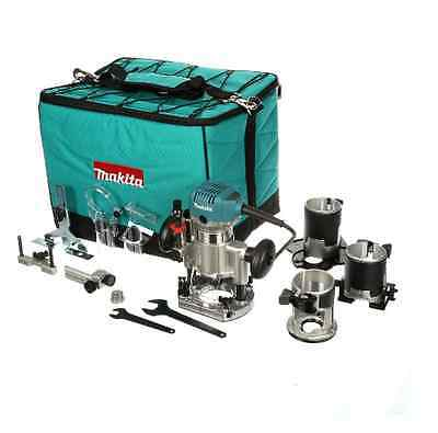 Makita 1-1/4 HP Compact Corded Router Kit With 3-Base Woodworking & Power Tools