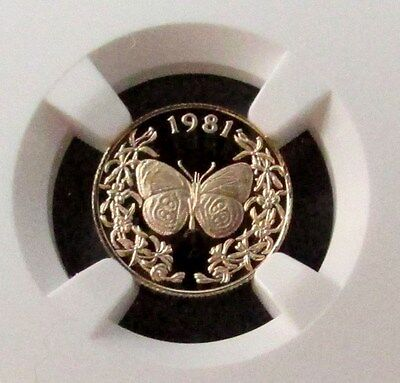 1981 Franklin Mint Archive Gold Panama 20 Balboa  Butterfly Ngc Proof 69 Uc