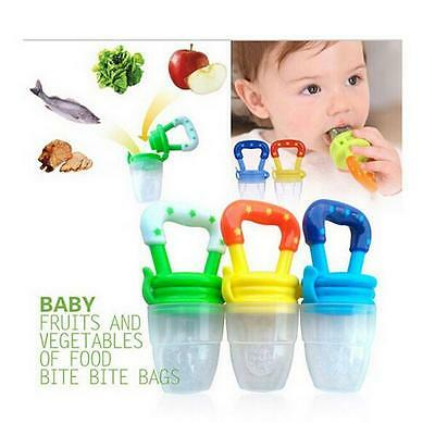 UK Fresh Food Fruit Baby Feeder Nipple Pacifier Feeding Dummy Soother Weaning