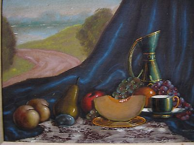 Mid-20th Century Still Life & Landscape Oil Painting Canvas Art American School