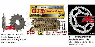 DID- Gold X Ring JT Sprocket Chain Kit fits Suzuki GSF1250 S Bandit (ABS) 07-11