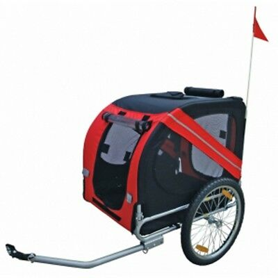 Bicycle Bike Trailer Stroller Jogger Pet Dog Red Black Animal