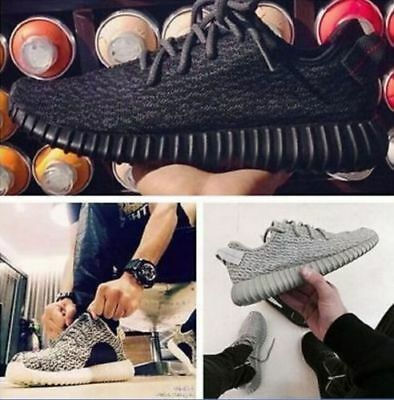 New Mens Boost Gym Trainers Fitness Sports Running Casual Shoes Sneakers 350 BK