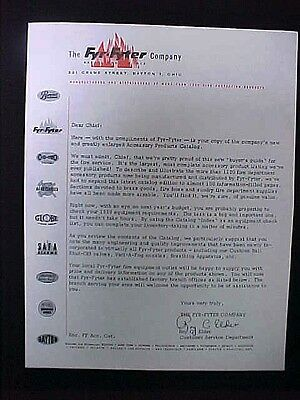 Used Letterhead The Fyr-Fyter Company Fire Protection Products
