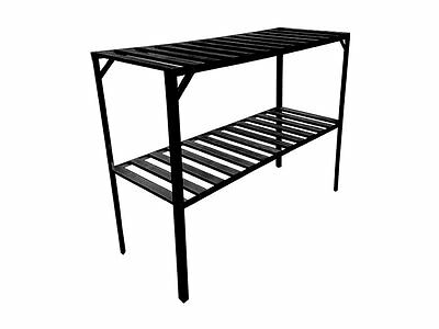 Evergreen Greenhouse Staging 2 Tier Black