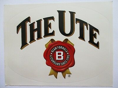 Jim Beam Bourbon brand new The Ute sticker decal for home bar pub collector