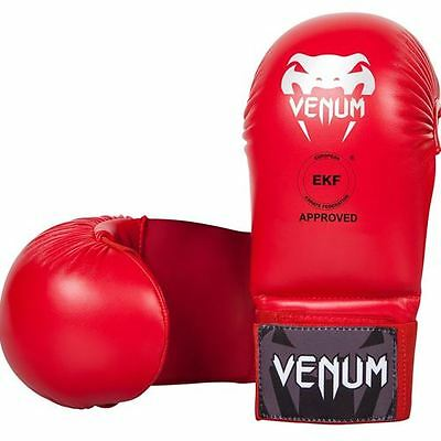 Venum Karate Mitts without Thumb Protection (WKF) - Red
