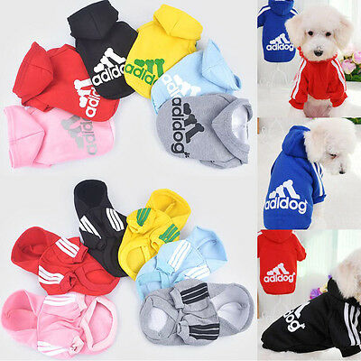NEW Pet Clothes Dog Cat Puppy Warm Sweater Dress Coat Costume Hoodie Apparel