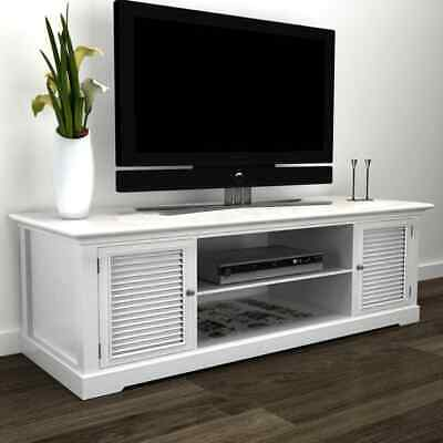 #b Modern Large White Wooden TV Stand Cabinet Home Storage Entertainment Center