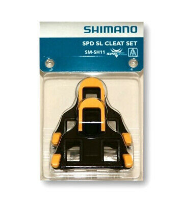 Shimano SPD SL Cleat Set SM-SH11 Yellow Floating Mode Cleats New in Retail Pack