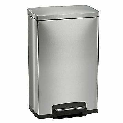 New ! Tramontina 13 Gal Step Trash Can, Stainless Steel