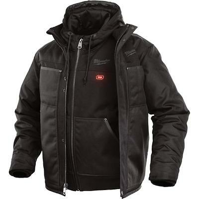 Milwaukee Men Large M12 12-Volt Lithium Ion Cordless Black 3-in-1 Heated Jacket