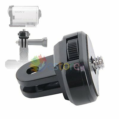 """Tripod Mount Adapter For Sony Action Cam Camera- GoPro Mount To 1/4"""" thread"""