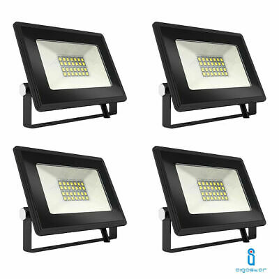 4 Fari Led Faretto Esterno 20W Alta Luminosita Ip66 Slim