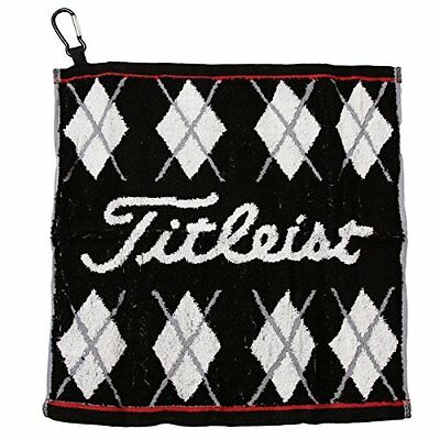 Titleist Japan Golf JAPAN Hand Towel with hook Black AJTWH51 W34xH35cm JAPAN