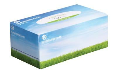 Staples Sustainable Earth Facial Tissue 2 Ply Box 220