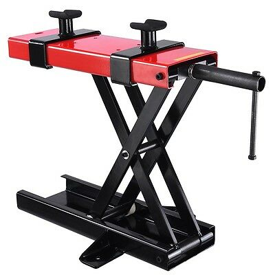 Motorcycle Bike Motorbike Stand Scissor Lift Jack Paddock Workshop Table 1000lbs